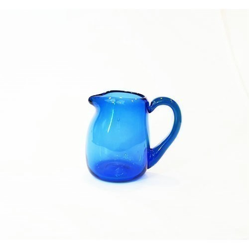JAMESTOWN GLASS CREAM PITCHER - COBALT Thumbnail