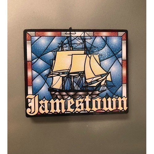 STAINED GLASS SHIP MAGNET Thumbnail