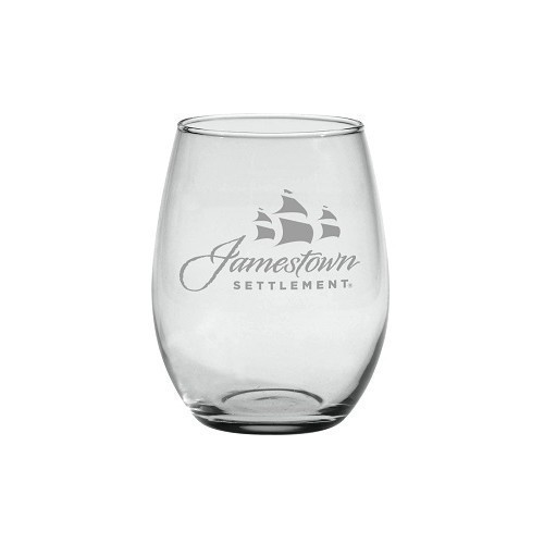 SIGNATURE LOGO STEMLESS WINE GLASS- JAMESTOWN Thumbnail