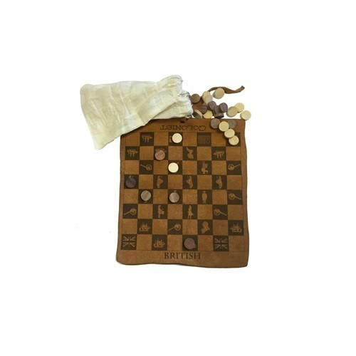 COLONIAL CHECKERS LEATHER SET Thumbnail