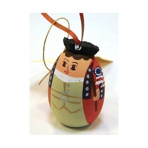 RED COAT PATRIOT EGG ORNAMENT Thumbnail