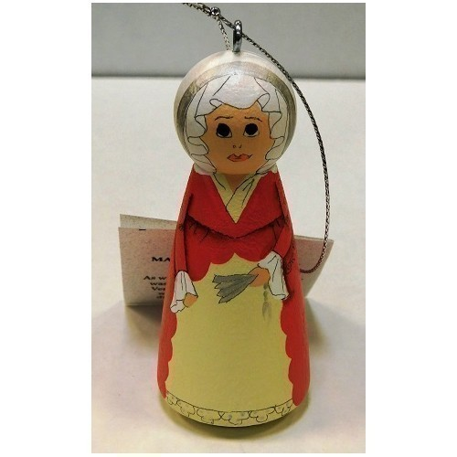 CLOTHESPIN ORNAMENT MARTHA WASHINGTON Thumbnail