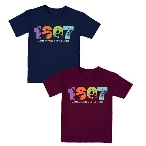 1607 YOUTH TEE - NAVY OR MAROON Thumbnail