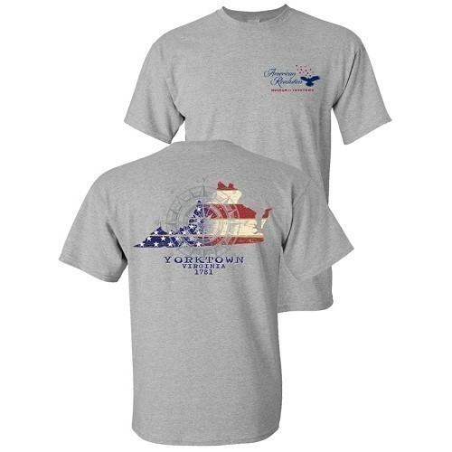 LIBERTY FLAG VIRGINIA TEE - HEATHER GRAY Thumbnail