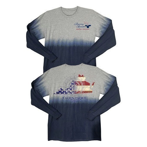 LIBERTY FLAG VIRGINIA OMBRE PULLOVER - NAVY Thumbnail