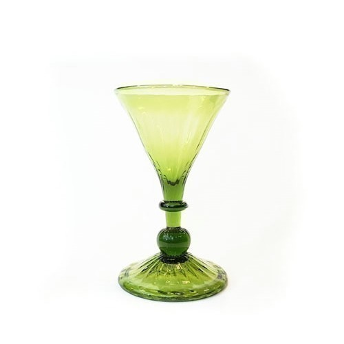 JAMESTOWN GLASS SWIRL WINE GLASS GREEN Thumbnail
