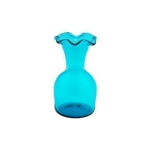JAMESTOWN GLASS 6 LIPPED VASE TEAL Thumbnail
