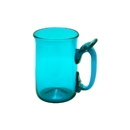 JAMESTOWN GLASS MUG TEAL Thumbnail