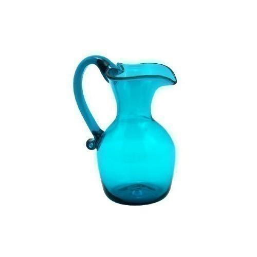 JAMESTOWN GLASS HEART PITCHER TEAL Thumbnail
