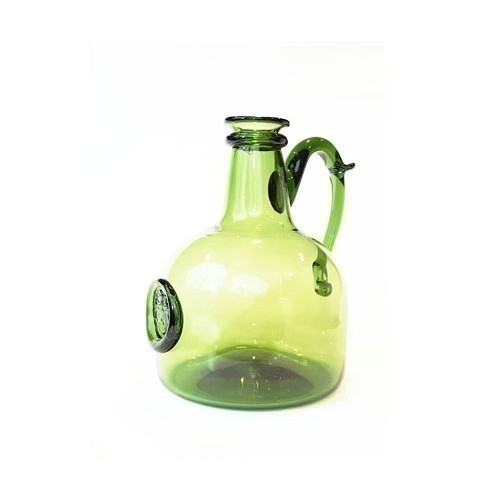 JAMESTOWN GLASS WINE DECANTER GREEN Thumbnail