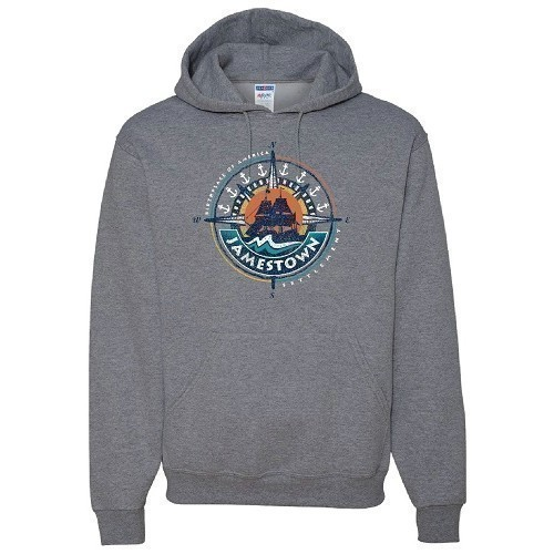 HOODIE SWEATSHIRT PULLOVER - HEATHER GREY Thumbnail