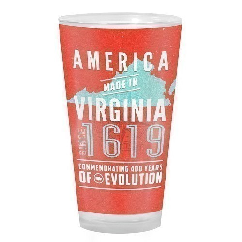 AMERICA MADE IN VIRGINIA PUB GLASS Thumbnail