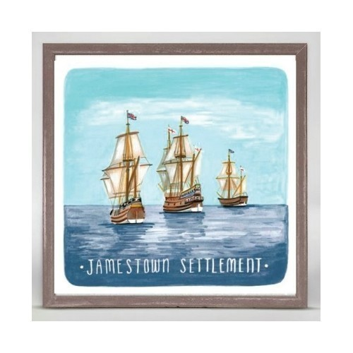 MINI CANVAS - JAMESTOWN SETTLEMENT SHIPS Thumbnail