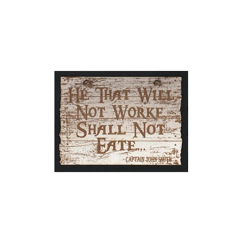 LASER ETCHED WOOD SIGN - JOHN SMITH QUOTE Thumbnail