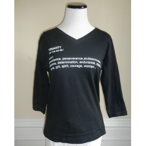 TENACITY V-NECK TEE - LADIES - BLACK Thumbnail