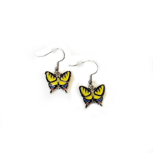 BUTTERFLY CHARM EARRINGS Thumbnail