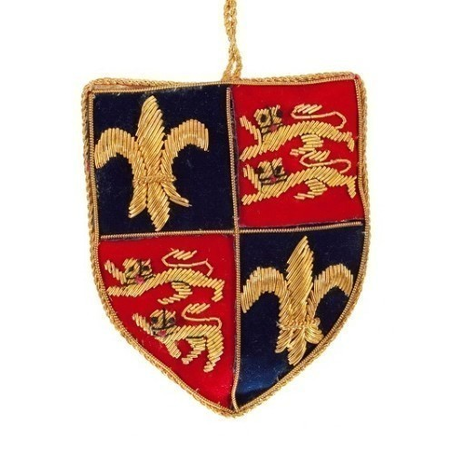 ORNAMENT - FLEUR DE LIS AND LIONS SHIELD Thumbnail