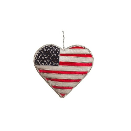 ORNAMENT -  AMERICAN FLAG HEART Thumbnail