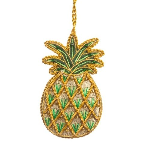 ORNAMENT - GOLD PINEAPPLE Thumbnail